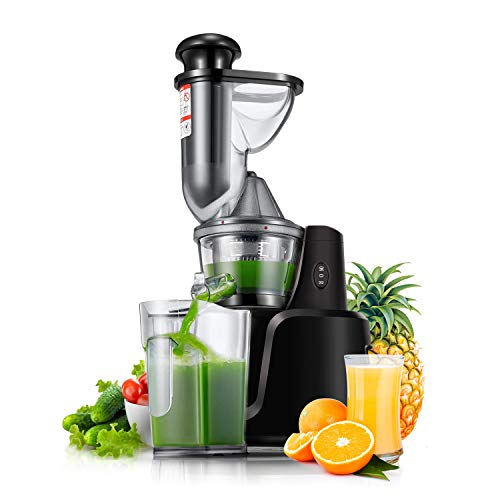 Juicer Machines, Joerid 2020 Upgraded Masticating Juicer Extractor, Slow Cold Press Juicer, Slow Juicer Easy to Clean, Reverse Function, High Nutrition Reserve & Juice Yield with Brush