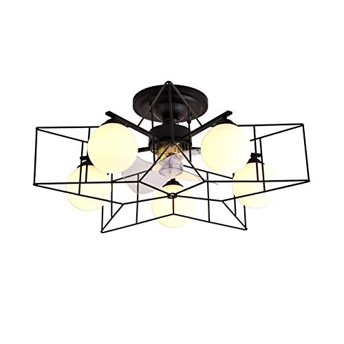 Ceiling Fans With Lights Ceiling Fan Light Simple Fan Chandelier Dining Room Bedroom Anion (Color : Black)