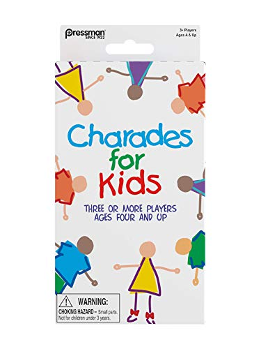 Pressman Toys Charades for Kids Peggable Game 3010-12, Multicolor, 5""