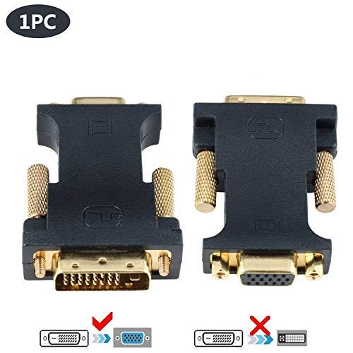 CableDeconn DVI VGA Adapter, Active DVI-D 24+1 to VGA Link Video Adapter Cable Converter for PC DVD Monitor HDTV (E0401)