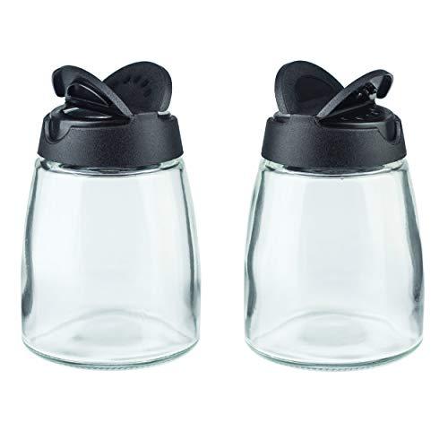 MILEKE Salt and Pepper Shakers, Moisture-Proof Condiment holders 150ML, 2/pack