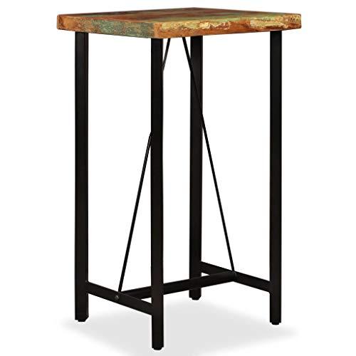 vidaXL Bartisch Bartresen Theke Stehtisch Tresentisch Küchentisch Bistrotisch Loungetisch Esstisch Tisch Recyceltes Massivholz 60x60x107cm