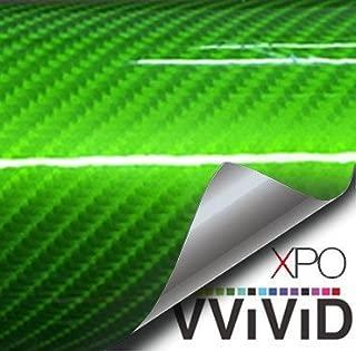 VViViD Tech Art High-Gloss Carbon Fibre Vinyl Wrap Air-Release Adhesive Roll (1ft x 5ft, Green)