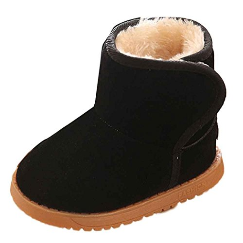 CeLaVi 100% Wool-Faux-Fur Lined Indoor House Slippers Booties - Boy Girl Child - Leather Sole, US Infant 3-3.5/EU 17-18