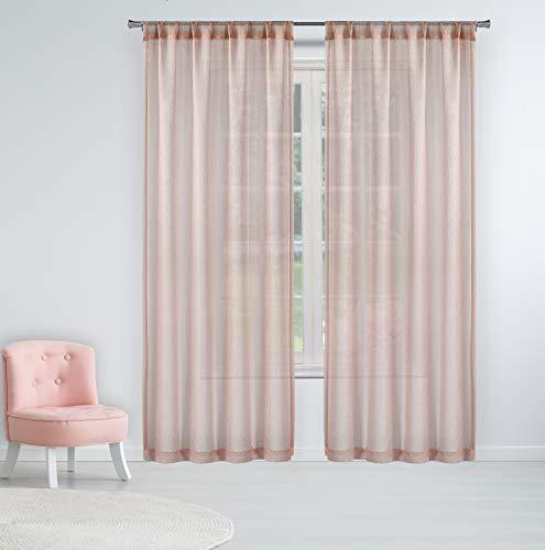 Lala + Bash Allyson Fire Retardant Curtains Set, 54x84, Blush
