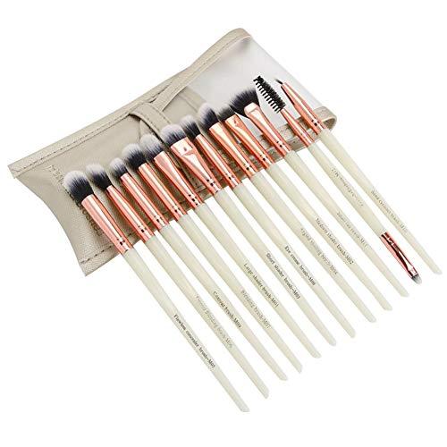 12pcs / set pinceaux de maquillage des yeux stylos cosmétiques ombre à cils w/sac (blanc)
