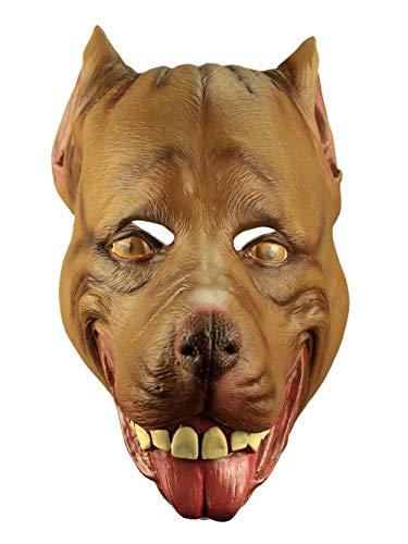 Brown Pitbull Dog Adult Latex Mask Cartoon Anime Cosplay Costume Accessory New