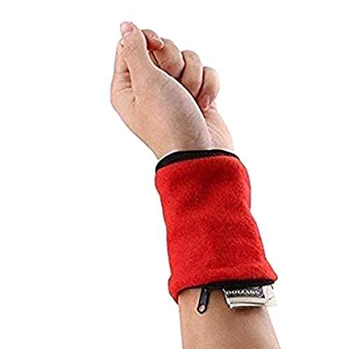 Brawdress Unisex Zipper Wrist Pouch Wristband Sweatband Wristband Wallet for Keys, ID, Cards, Cash, Wrist Wallet for Travel, Running, Walking, Jogging