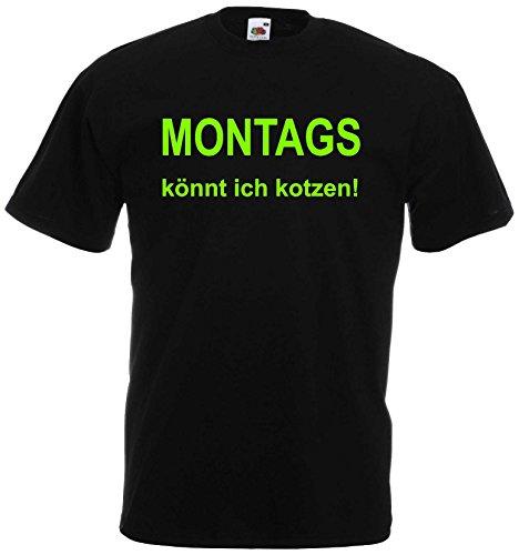 world-of-shirt Herren T-Shirt Montags könnt ich kotzen