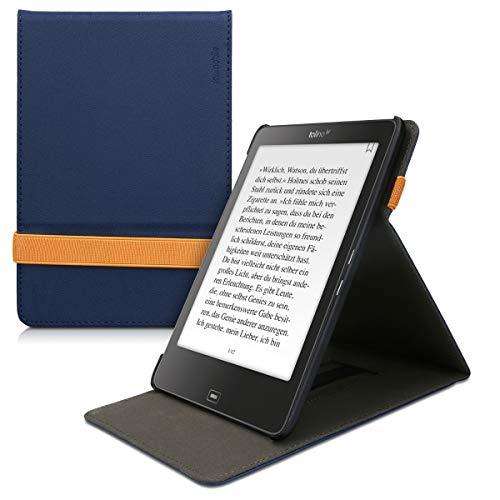 kwmobile Hülle kompatibel mit Tolino Epos - Schlaufe Ständer - e-Reader Schutzhülle - Dunkelblau