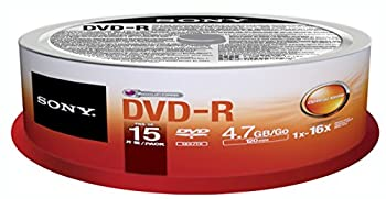 Sony DVD-R  15 pk Spindle