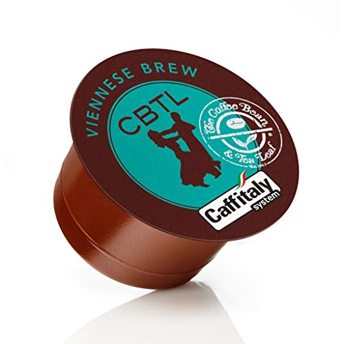 The Coffee Bean & Tea Leaf, Single Origin Viennese Brew Coffee Capsules for Caffitaly Brewers, 10-Count Pods
