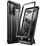 SUPCASE Galaxy Note20Ultra ケース 2020 米軍MIL規格取得 腰掛けクリップ付属 スタンド機能 耐衝撃 防塵 保護 UBProシリーズ 黒