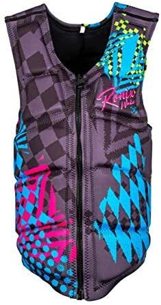 RONIX Men's Party Athletic Fit 4-Way Stretch Flex Foam Impact Waterski Vest