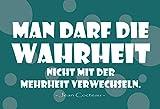 Generisch Cartel de chapa con texto en alemán 'Wahrheit und Mayen', 20 x 30 cm