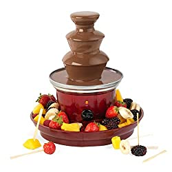 Perfect for parties, birthdays, baby showers and special occasions, this Giles & Posner chocolate fountain is fun addition to any home. With 90 W, the fountain has two food trays that sit around the bottom of the device so you can dip all kinds of de...