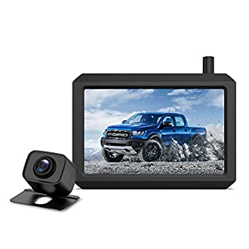 Upgrade 720P Digital Wireless Backup Camera,2 Cameras Channel Support AUTO-VOX W7PRO 5  TFT Monitors and IP68 Waterproof Wireless Rear View Camera for Car,Trucks,Trailer