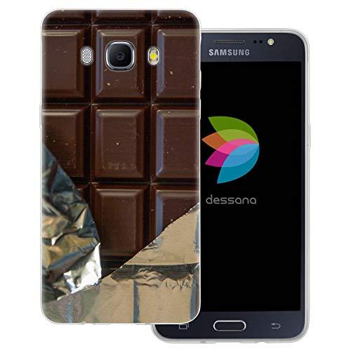 dessana - Cover trasparente per Samsung Galaxy J5 (2016), colore: Cioccolato