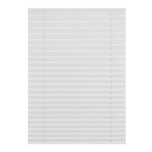 Lichtblick DPS.S06.01 Dachfenster Plissee Haftfix, ohne Bohren Weiß, 95,3 cm x 100 cm (B x L) S06/SK06