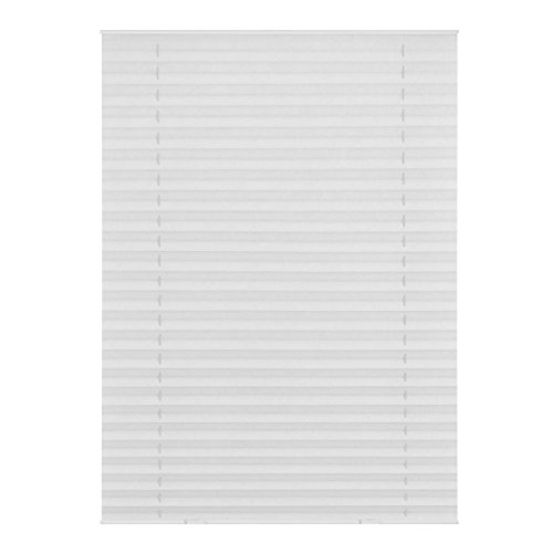 Lichtblick DPS.F06.01 Dachfenster Plissee Haftfix, ohne Bohren Weiß, 47,3 cm x 100 cm (B x L) F06/FK06