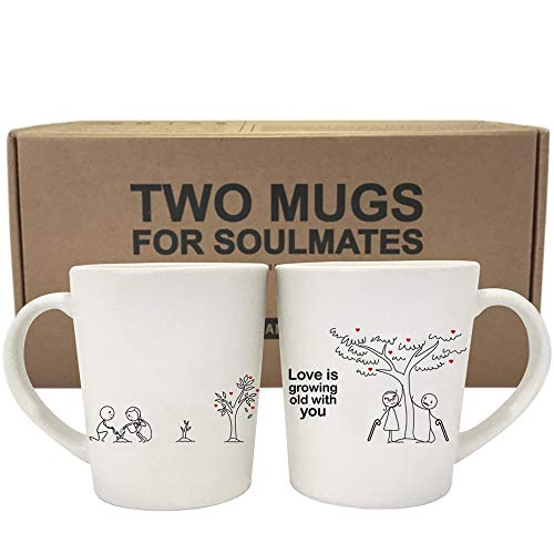 Love is Growing Old With You Tree Mugs