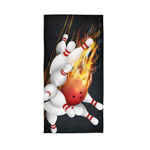 NaiiaN Für Badezimmer Home Hotel Fitnessraum Spa Badetücher Hand Gast Mehrzweck Sport Bowling Flamme Dekorative Hochsaugfähig Shepherd 30x15 Zoll Weiche Große