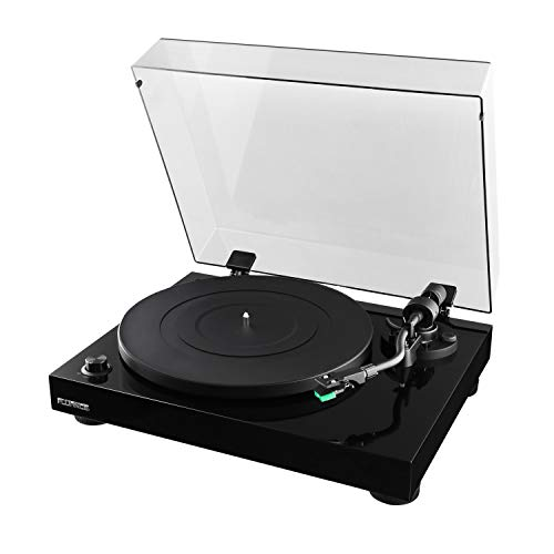 Fluance RT81 Elite High Fidelity Vinyl Turntable Record Player with Audio Technica AT95E Cartridge, Belt Drive, Built-in Preamp, Adjustable Counterweight, Solid Wood Plinth - Piano Black