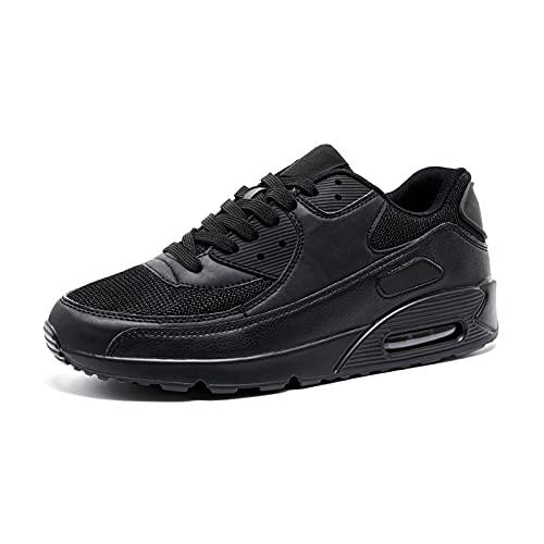 Scarpe da Ginnastica Donna Sportive Scarpe da Corsa Uomo Sneakers Scarpe Tennis Fitness Basse Running Scarpe da Allenamento Leggero Nere EU44