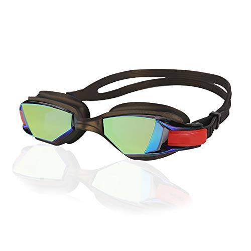 Gafas de natación, sin Fugas, protección contra Rayos UV, visión de 180 Grados, Montura Grande, Gafas de natación para Adultos, Gorro de natación Gratis,C5