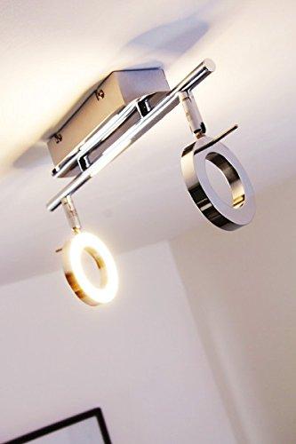 Plafonnier/Applique murale 2 spots LED orientables - 320 lumen chacun - 3000 Kelvin