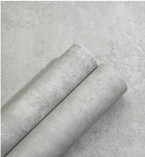 Selbstklebende Tapete Betonoptik Tapete Verdickt PVC Tapete wasserfest 10m*0,6m Natur Stein betonoptik Klebefolie Wandaufkleber Rolle für Wohnung Renovierung