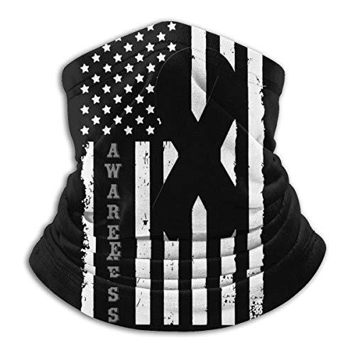 Lzz-Shop Melanoma Awareness Flag winddichte sportsjaal nekwarmer bandana bivakmuts hoofddeksel
