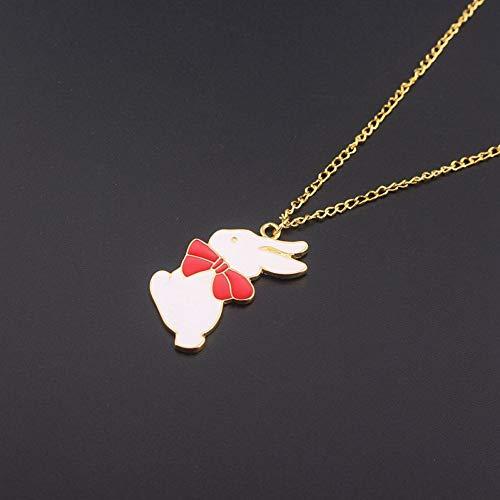 XLHJK Halsketting met hanger van karton Animato soort vogel Sakura konijn transformatie ronde hals meisje