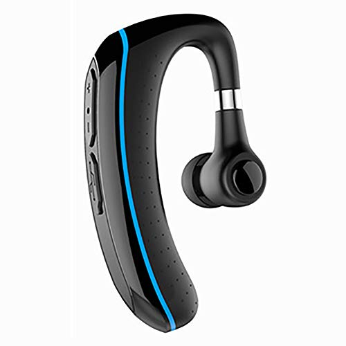 HLKYB Bluetooth-Headset, 180 ° -Drehung Wireless Bluetooth V4.1 Freisprecheinrichtung, kompatible iPhone-Android-Handys,Blau