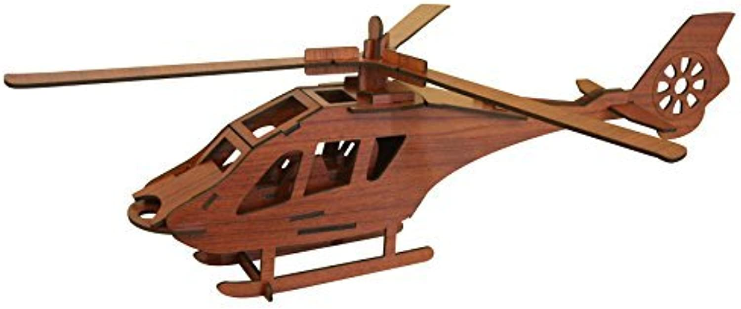 Helicopter 3D Puzzle  pinkwood color  pinkwood Puzzles Inc.  Fun MindChallenging 3D Puzzle  by pinkwood Puzzles Inc.