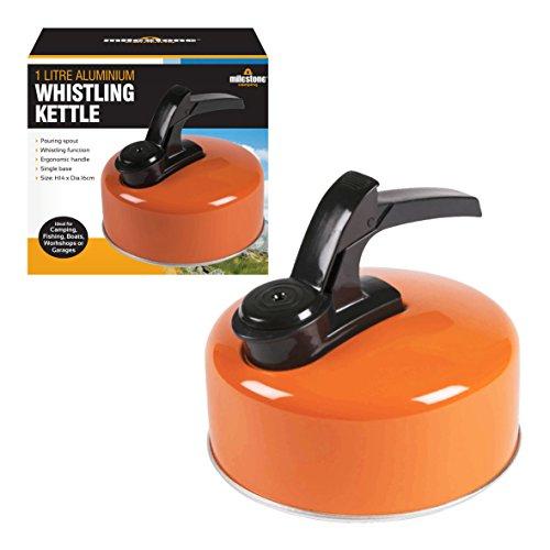 Milestone Camping Alu-Wasserkocher - Orange, 1 Liter