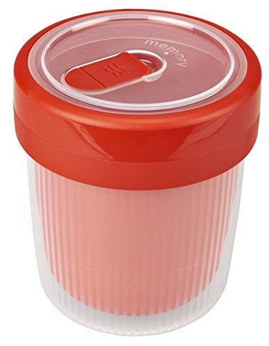 Rotho Memory B3 Thermotasse, Kunststoff (BPA-frei), rot/transparent, 0,5 Liter (10,6 x 10,6 x 12,1 cm)