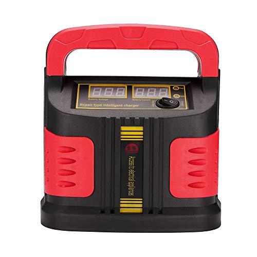 UNISOPH Cargador de batería de Coche, Cargador Elegante de reparación de batería de Coche de Pulso 12V-24V 15A con Pantalla LCD