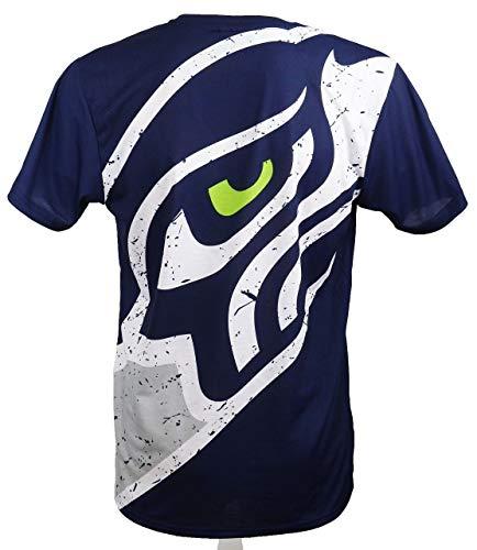 New Era Seattle Seahawks T-Shirt/Tee - Big Logo Back - Navy - XXL