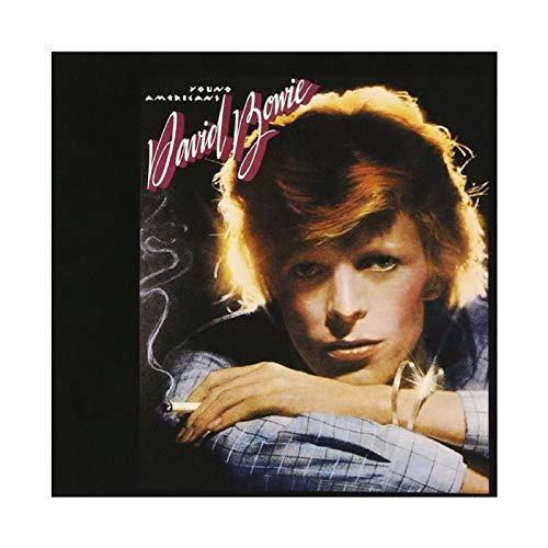 Poster David Bowie Young Americans Couverture d'abume sur toile pour chambre à coucher, décoration sportive, paysage, bureau, décoration sans cadre : 40 x 40 cm
