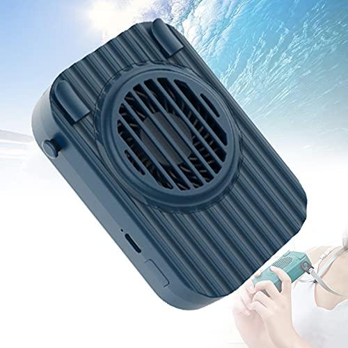 YONGCHY Ventilador Portátil, Ventilador USB, Ventilador De Mesa con Ventilador Eléctrico Que Funciona con Batería Recargable, Ventilador De Mano De 3 Velocidades para Viajes, Oficina,Azul
