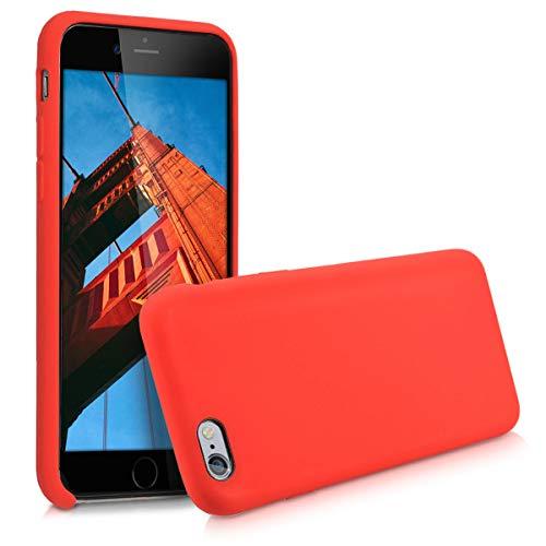 kwmobile Cover per Apple iPhone 6 / 6S - Cover Custodia in Silicone TPU - Back Case Protezione Cellulare Rosso