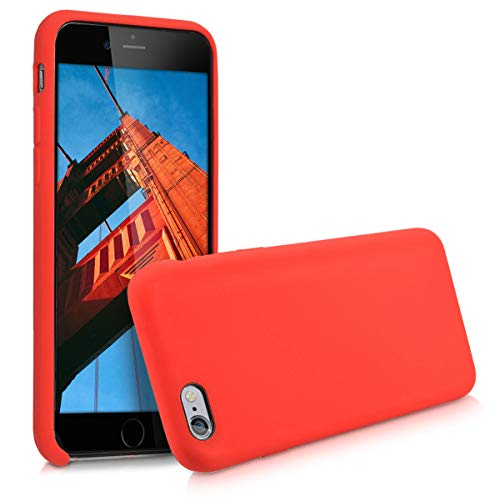 kwmobile Hülle kompatibel mit Apple iPhone 6 / 6S - Handyhülle gummiert - Handy Case in Rot