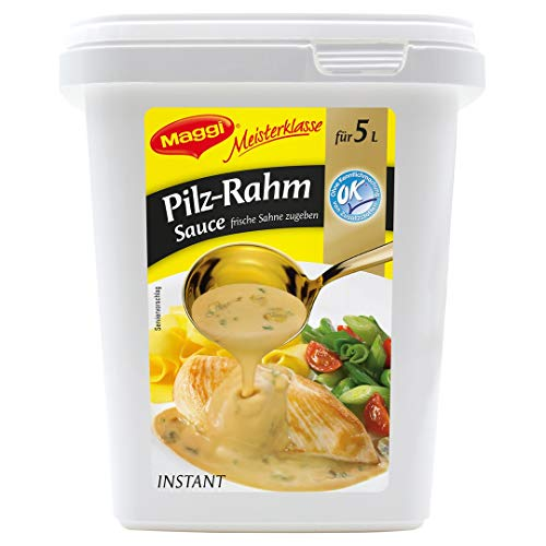 Maggi Meisterklasse Pilz-Rahm-Sauce, 1er Pack (1 x 600g Gastro Box)