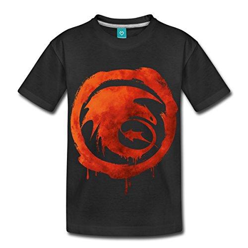 Dreamworks Dragons Ataque Clase Niños Premium–Camiseta de Spread