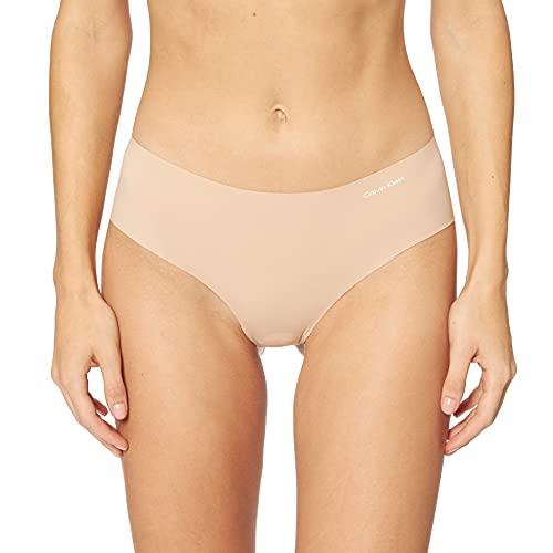 Calvin Klein Damen Hipster INVISIBLES, Einfarbig, Gr. 36 (Herstellergröße: S), Beige (LIGHT CARAMEL 1LC)