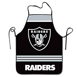 Littlearth Las Vegas Raiders Adjustable Bib Apron with Pockets Cooking Kitchen Aprons for Women Men Chef