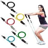 Kloius 11 Unids/Set Fitness Resistencia Banda Fuerza Entrenamiento Cuerdas elásticas Elásticos