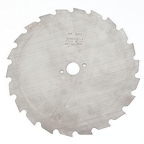 Matijardin - Lame disque 22 dents débroussailleuse. Gouges. Ø 200 mm. Alésage 20 mm. Epaisseur 1,6 mm - Pièce neuve