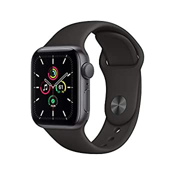 New Apple Watch SE  GPS 40mm  - Space Gray Aluminum Case with Black Sport Band